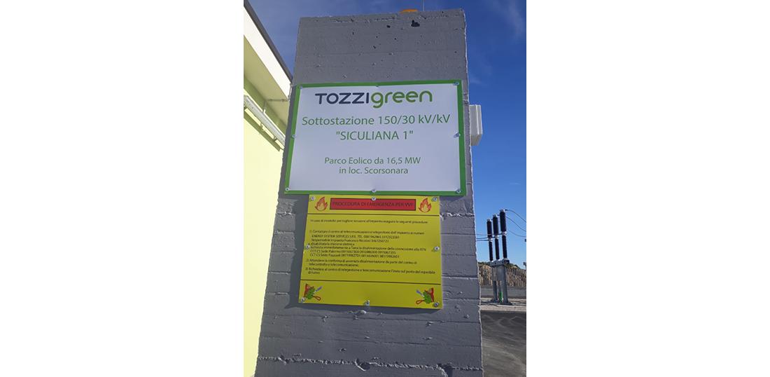 Tozzigreen sottostazione